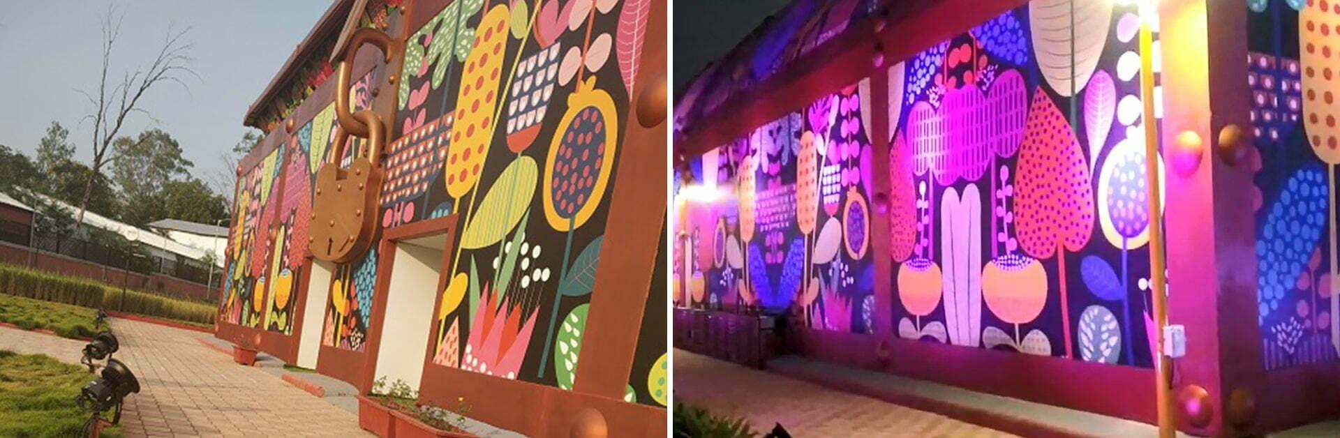 Banner 4 Children Nutrition Park, Kevadia Gujarat witnesses unforgettable luster from OSRAM LED PAR light