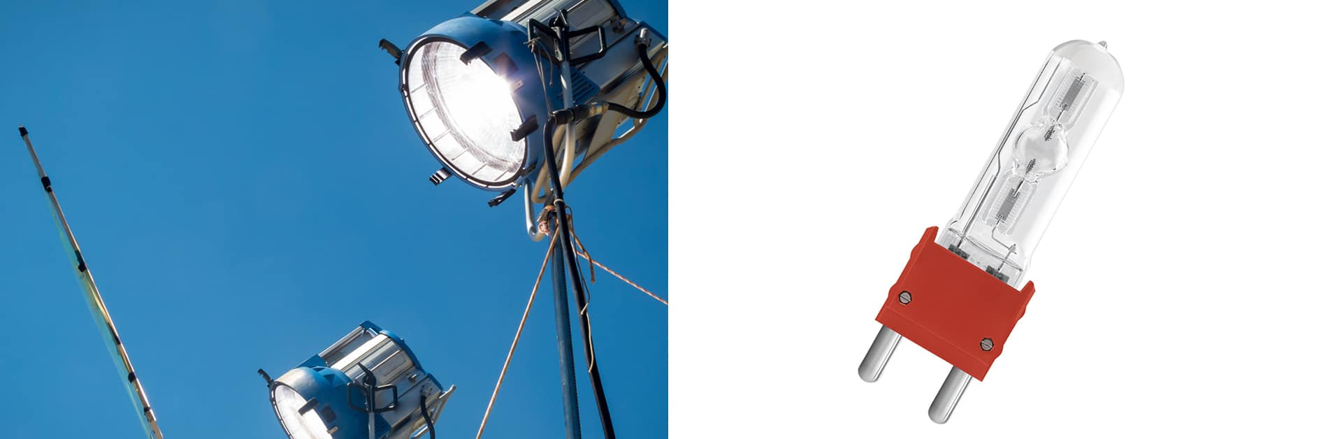 Banner 8 Precise lighting in shooting is what pure water in human life. OSRAM HMI® Lights for Film/ TV/OTT shooting